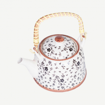 Tetera de porcelana con diseño